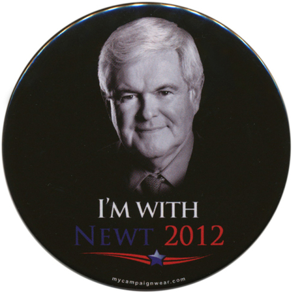 There were always two sides of Gingrich for voters to consider. (Ken Rudin collection)