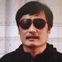 Blind lawyer Chen Guangcheng, seen in this image from a YouTube video, escaped last week after 19 months under house arrest. Searches for his name are banned on China's Twitter-like services.