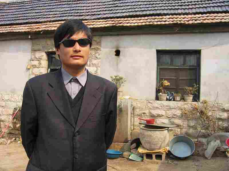 This undated handout image provided by ChinaAid shows blind Chinese legal activist Chen Guangcheng, whose escape from house arrest is at the heart of a growing U.S.-China firestorm.
