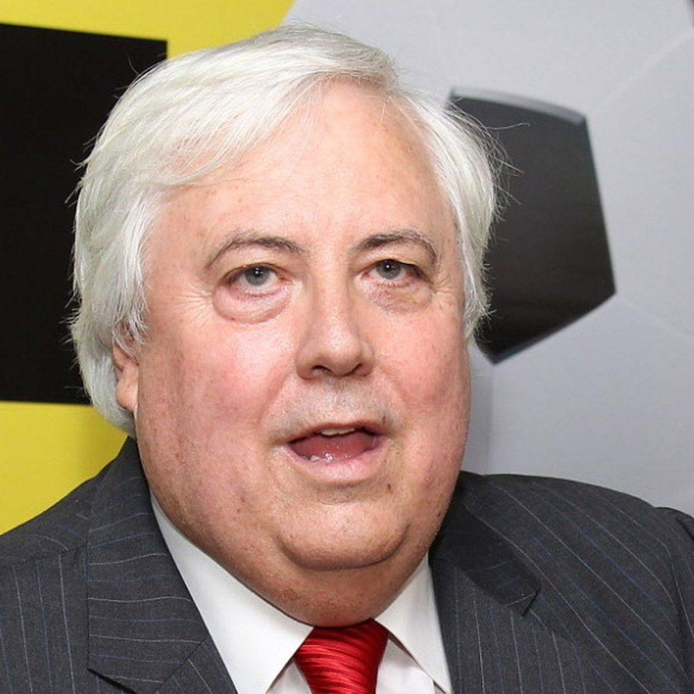 Billionaire mining magnate Clive Palmer, who says he's building a Titanic II.