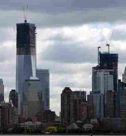 Rising above the Manhattan skyline: 1 World Trade Center.