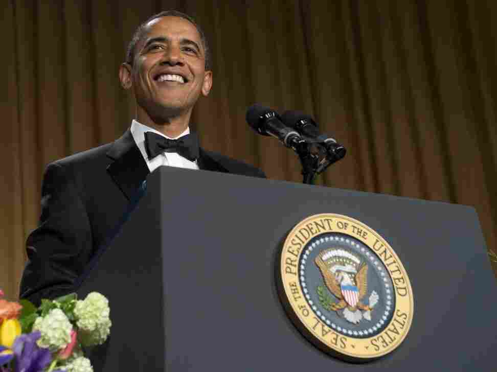 President Obama speaks — and jokes — during the White House Correspondents Association Dinner on Saturda