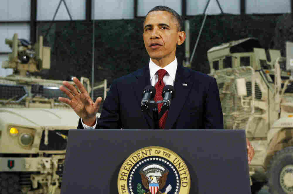 U.S. President Barack Obama delivers an address to the A
