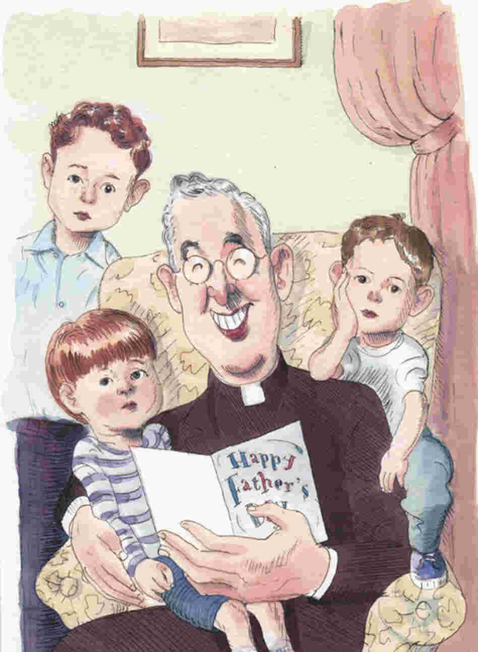 The molestation and child-abuse scandals hovering over the Catholic Church and the theme of Father's Day, a perennial one for New Yorker covers, provided Blitt with the inspiration to depict a delighted-looking priest surrounded by unsmiling cherubs.