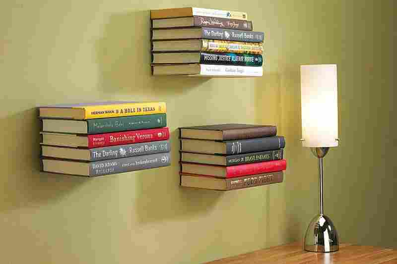Conceal Shelf These Shelves Appear To Defy Gravity Hooks Hold The Cover Of