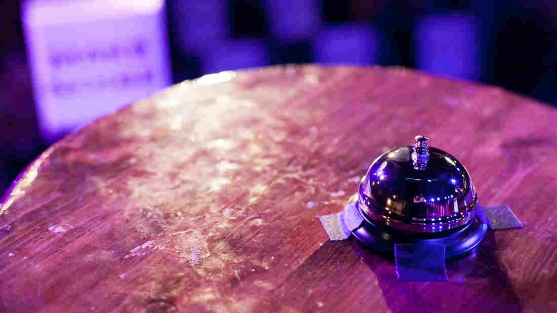 The bell: either friend or foe to all contestants who grace the stage at Ask Me Another.