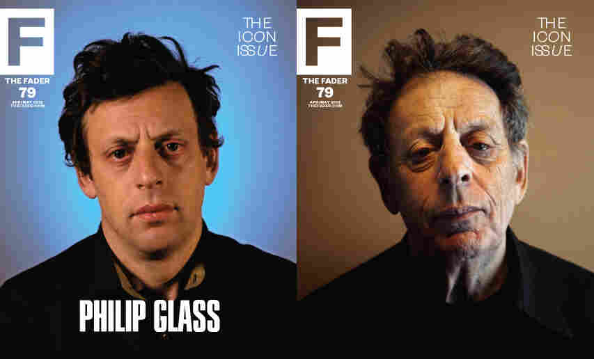 Images of Philip Glass from The Fader's Icon issue.