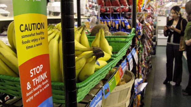 Symbols like these are designed to help shoppers make healthier choices (NPR)