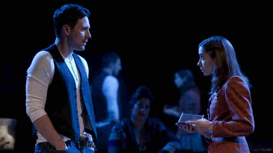 In Once, based on the cult-favorite Irish indie movie, a guy (Steve Kazee) and a girl (Cristin Milioti) fall in love during a whirlwind week of songwriting in Dublin. The show has earned 11 Tony nominations, including two for its leads.