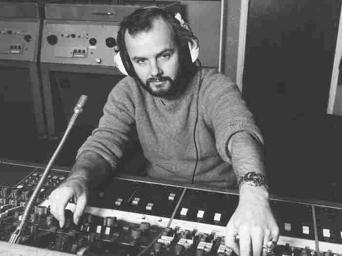 John Peel preparing for a radio broadcast. A portion of his vast record collection will be revealed every Monday.