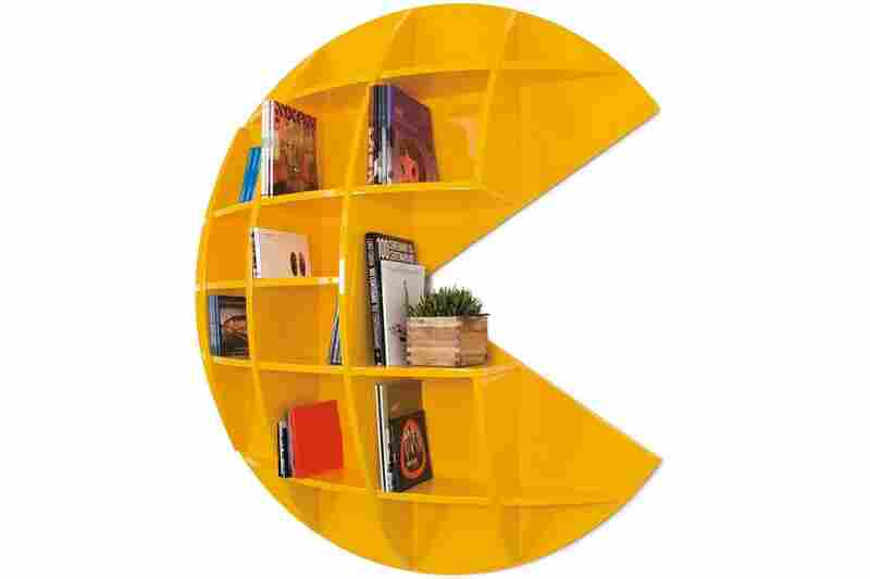 Puckman: This striking bookcase is a tribute to the cult 1980s video game of nearly the same name.