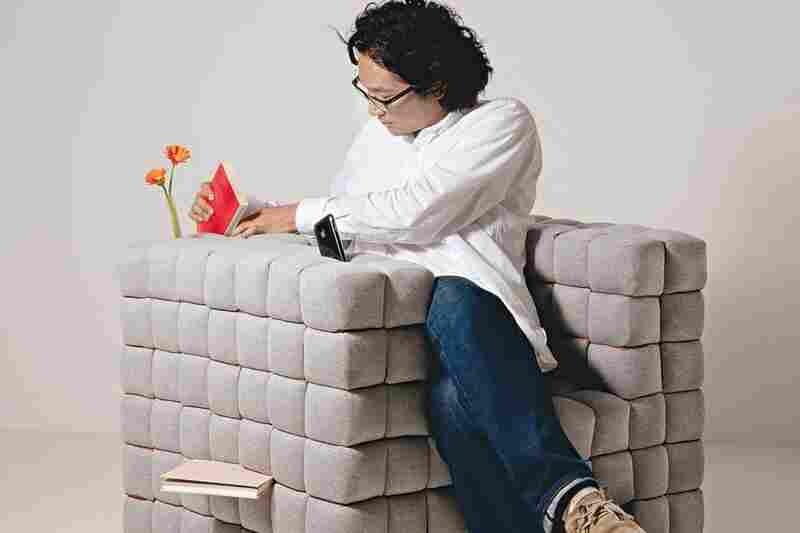 """Lost In Sofa: Books can be """"shelved between the cushions"""" of Tokyo designer Daisuke Motogi's """"Lost in Sofa."""""""