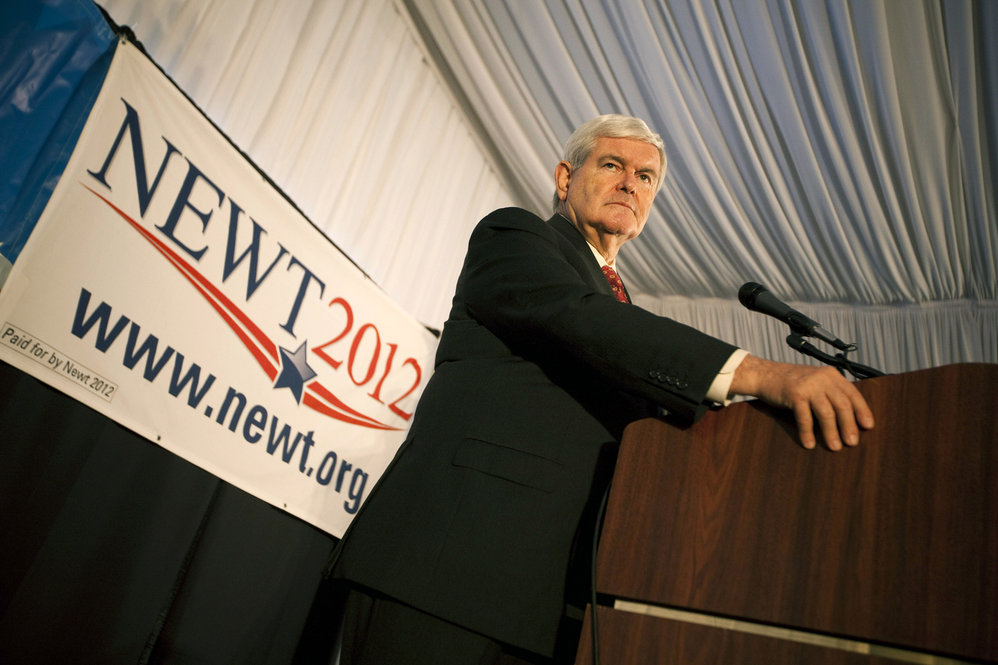 Gingrich speaks at a town hall meeting hosted by the Tea Party of Staten Island on Dec. 3, 2011, in New York City.