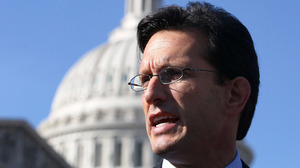 "House Majority Leader Eric Cantor, R-Va., shown at the U.S. Capitol on Feb. 28, was a creator of the ""Young Guns"" brand. Former aides have started YG organizations that are playing a role in congressional races."