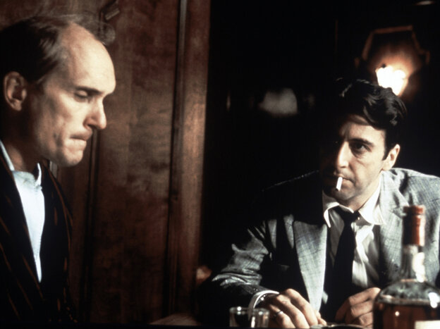 Robert Duvall and Al Pacino in a scene from The Godfather Part II.