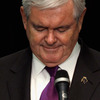 Former House Speaker Newt Gingrich announces he is suspending his campaign for the Republican presidential nomination on May 2 in Arlington, Va.