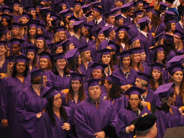 Elmira College graduates gather at their 2010 commencement.
