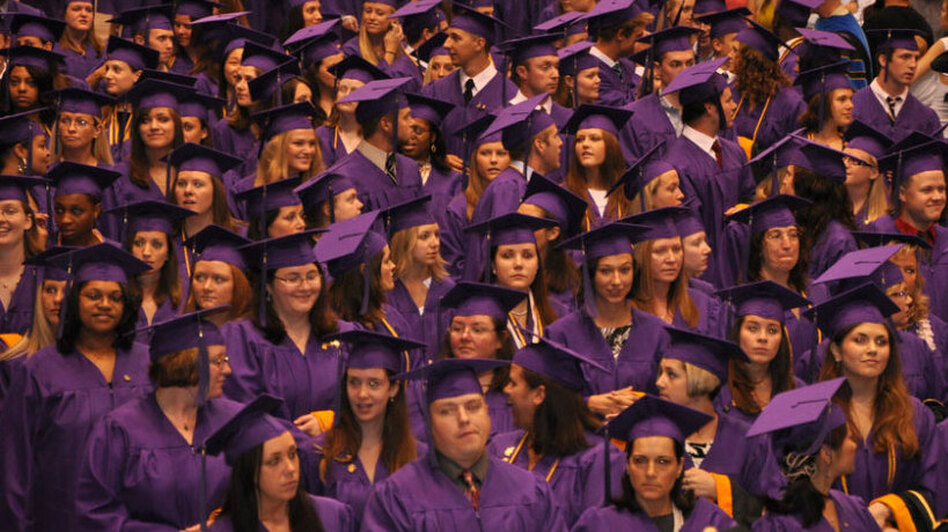 Elmira College graduates gather at their 2010 commencement. (Flickr)