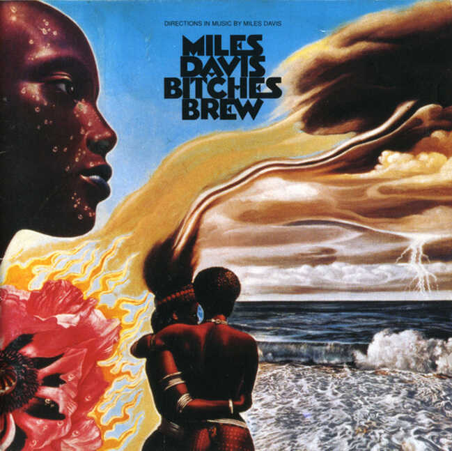 The cover art for Davis' Bitches Brew, which changed Martinez's mind about jazz fusion