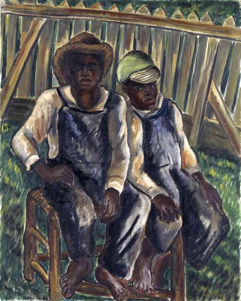 Malvin Gray Johnson, Brothers, 1934, oil