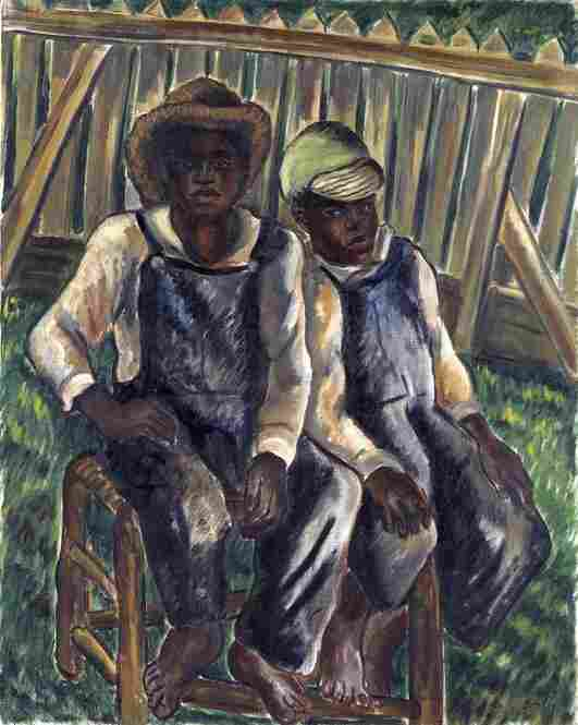 Malvin Gray Johnson, Brothers, 1934, oil