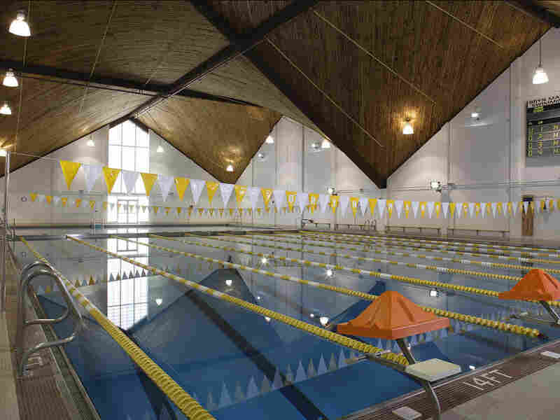 The pool at Bryn Mawr College's Bern Schwartz Fitness and Athletic Center. Bryn Mawr is one of a handful of colleges that requires students to pass a swimming test to graduate.