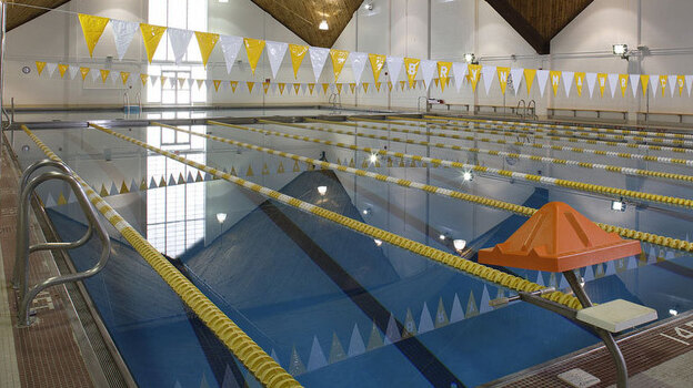 The pool at Bryn Mawr College's Bern Schwartz Fitness and Athletic Center. Bryn Mawr is one of a handful of colleges that requires students to pass a swimming test to graduate. (Courtesy of Bryn Mawr College)