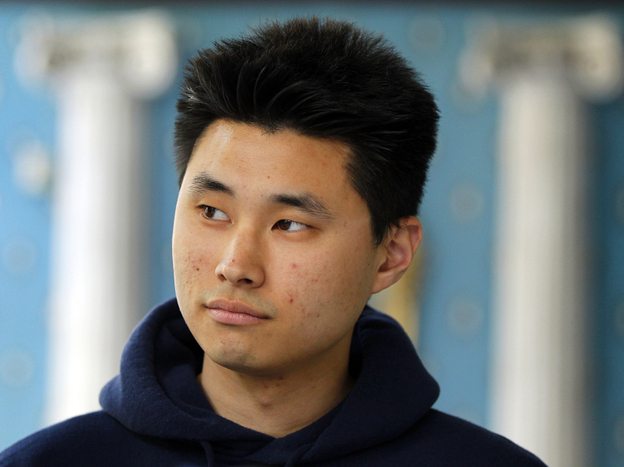 Daniel Chong appears at a news conference on Tuesday in San Diego.