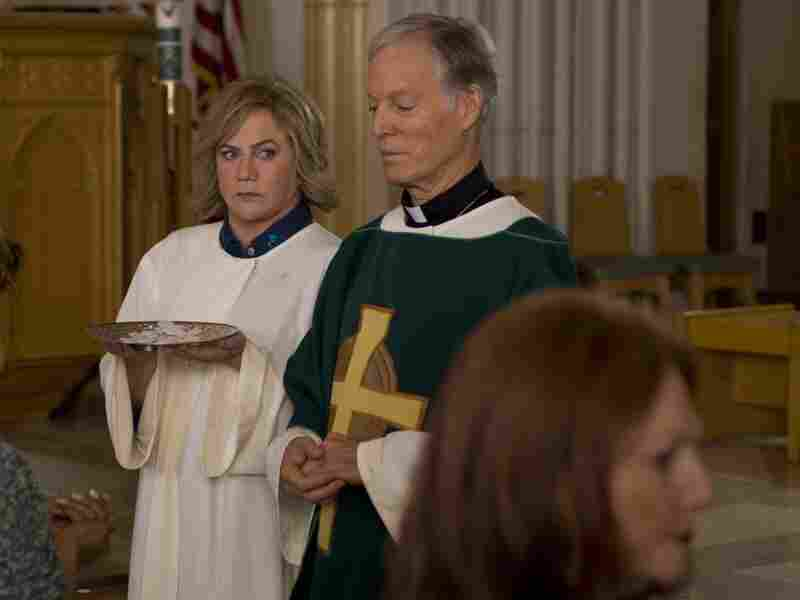 Eileen, otherwise a kind and devout Catholic, wades into morally questionable territory when she tries to present an untroubled family life for the benefit of her priest (Richard Chamberlain).