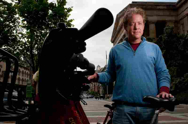 """Bartender Matt Carucci says he rarely feels safe biking in the city but often rides without a helmet anyway. """"There are a lot of other ways to hurt yourself,"""" he says."""