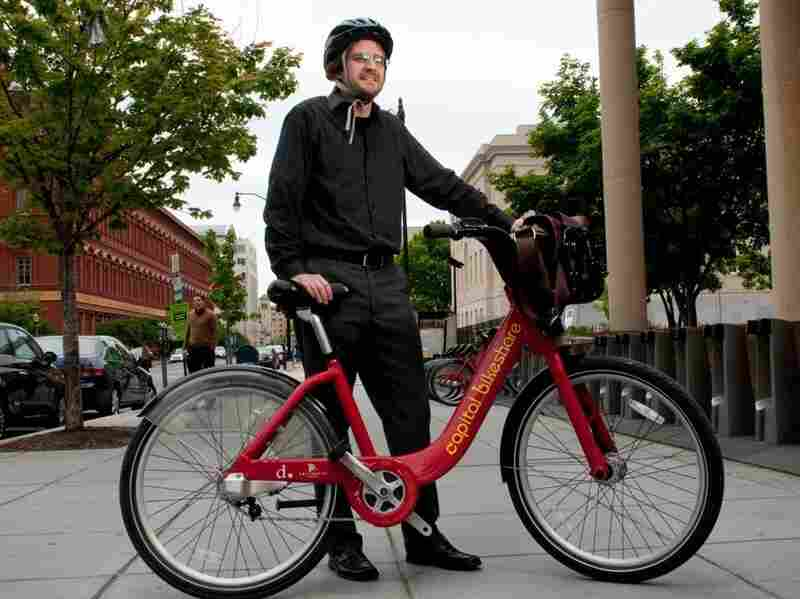"""Jason Lee, a government analyst, says he wears his helmet 9 times out of 10. """"My wife gets very angry when I leave the house without a helmet,"""" Lee says."""