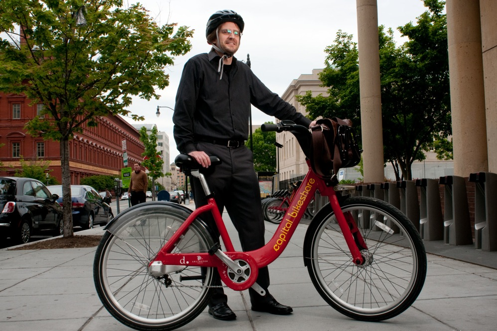 """Jason Lee, a government analyst, says he wears his helmet nine times out of 10. """"My wife gets very angry when I leave the house without a helmet,"""" Lee says."""