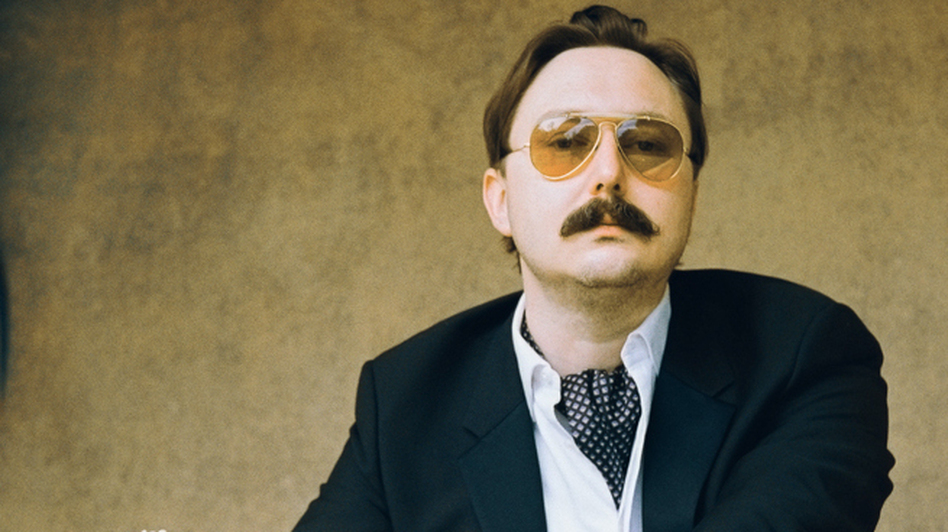 """I could be wrong, you know:"" John Hodgman notes that while his book That Is All is intensely concerned with ""the coming global superpocalypse,"" it also contains much information about travel and sports and wine, and is ""not depressing."" (Brantley Gutierrez)"