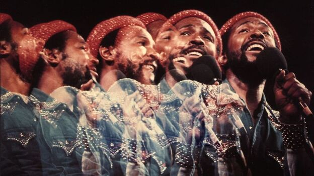 Detail of cover art from the 1974 album Marvin Gaye Live! (Album cover)