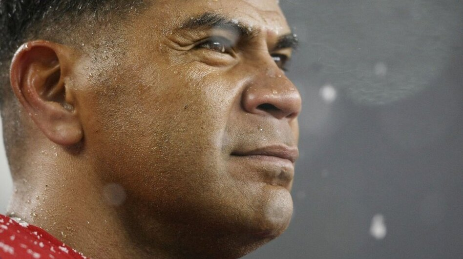Junior Seau in 2009, when he played with the New England Patriots. (Getty Images)