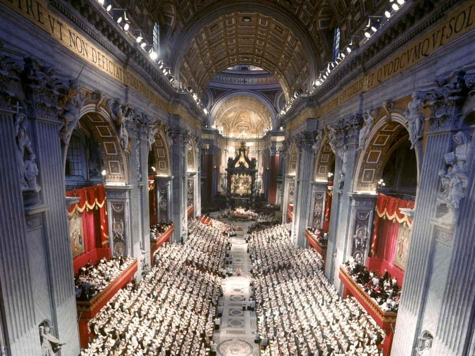 The Second Vatican Council opened in Rome on Oct. 11, 1962, under Pope John XXIII and concluded on Dec. 8, 1965, under Pope Paul VI. (Gamma-Keystone via Getty Images)