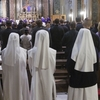 American nuns attend Mass at Sant'Apollinare in Rome. The umbrella group that represents the majority of the approximately 56,000 U.S. nuns plans to meet later this month to discuss its response to a Vatican reprimand.