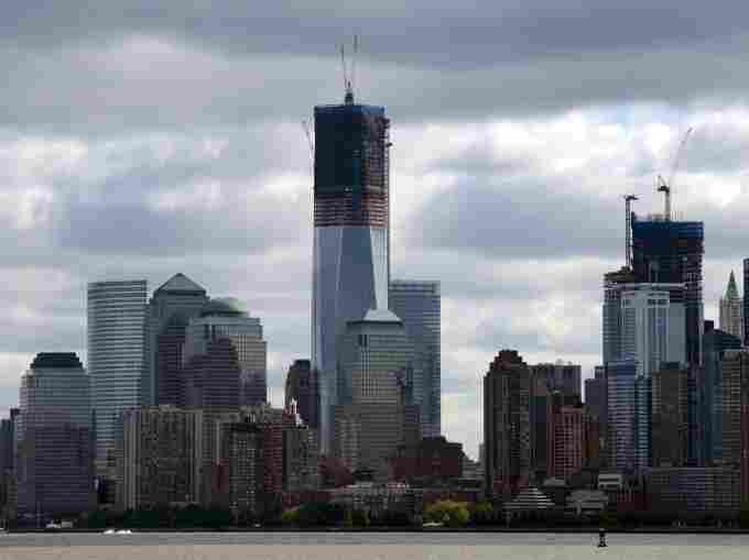Rising above the Manhattan skyline: 1 World Trade Center.