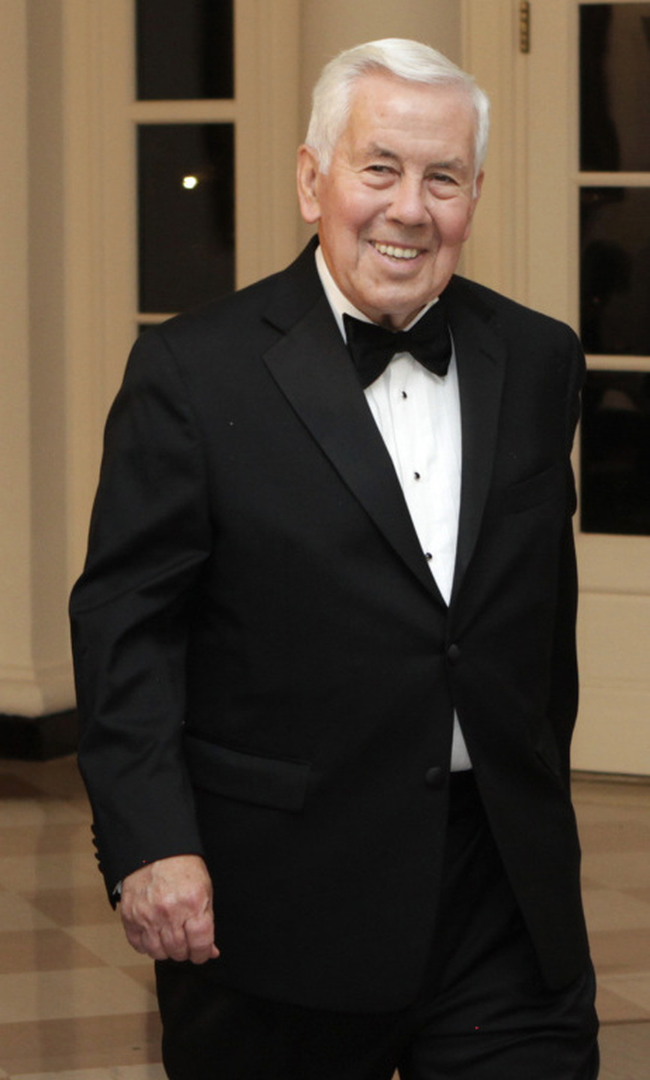 Sen. Richard Lugar, R-Ind., attends a state dinner at the White House on Oct. 13, 2011.