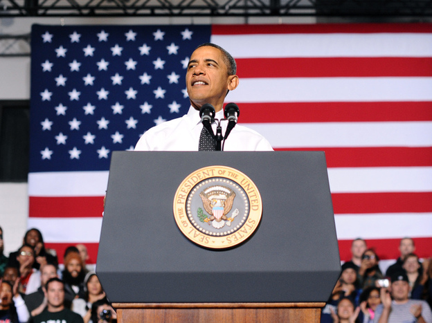 President Barack Obama speaks on the steps his administration is taking to increase college affordability  at Colorado University in Denver, Colorado, on Oct. 26, 2011. (AFP/Getty Images)