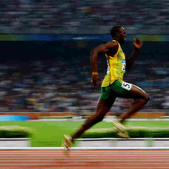 Jamaica's Usain Bolt shattered world records in the 100 and 200 meter races at the 2008 Beijing Olympics. Shown here in the 200 meters at Beijing, he's looking to repeat this summer at the London Olympics and add another chapter to Jamaica's great tradition of sprinting.