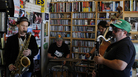 Jazz quartet Endangered Blood performs a Tiny Desk Concert at the NPR Music offices.