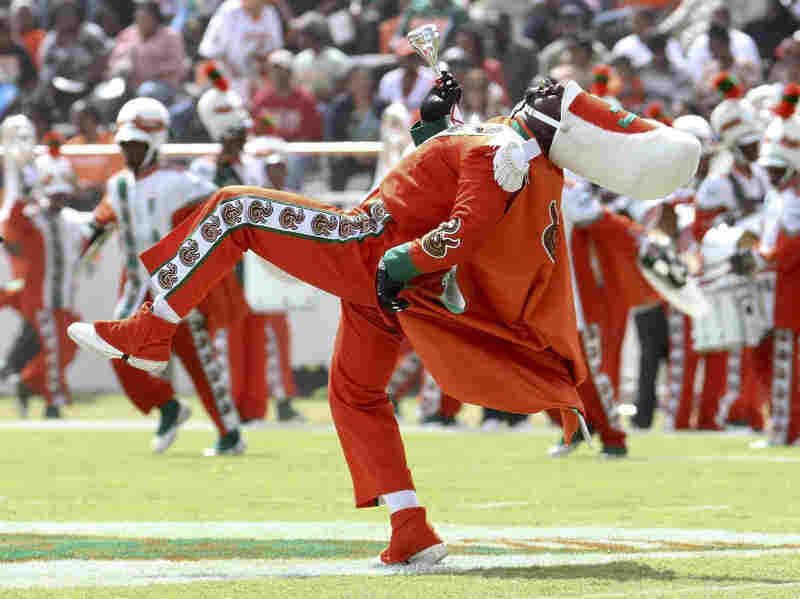 Champion performs during halftime of a game against Howard University on Oct. 8. Champion became ill and died due to a hazing incident after a game the following month.