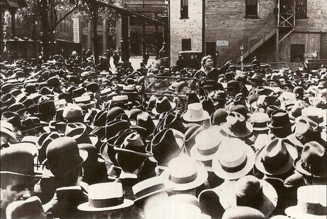 Emma Goldman at Union Square, 1916