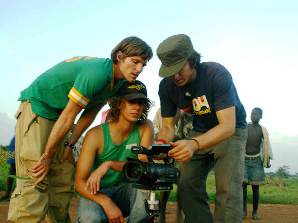 "Invisible Children's ""Kony 2012"" video about Central African warlord Joseph Kony went viral earlier this year but is seen as a cautionary tale by some social media experts. Here, the group's co-founders, Jason Russell, Bobby Bailey and Laren Poole, record footage in Africa"