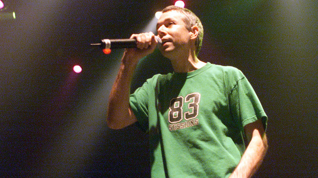 Adam Yauch of the Beastie Boys during a 2001 performance in New York City. (Getty Images)
