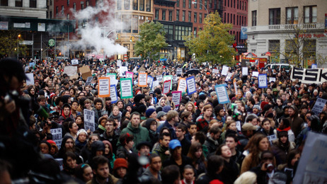 An Occupy Wall Street gathering in Union Square, Nov. 17, 2011.