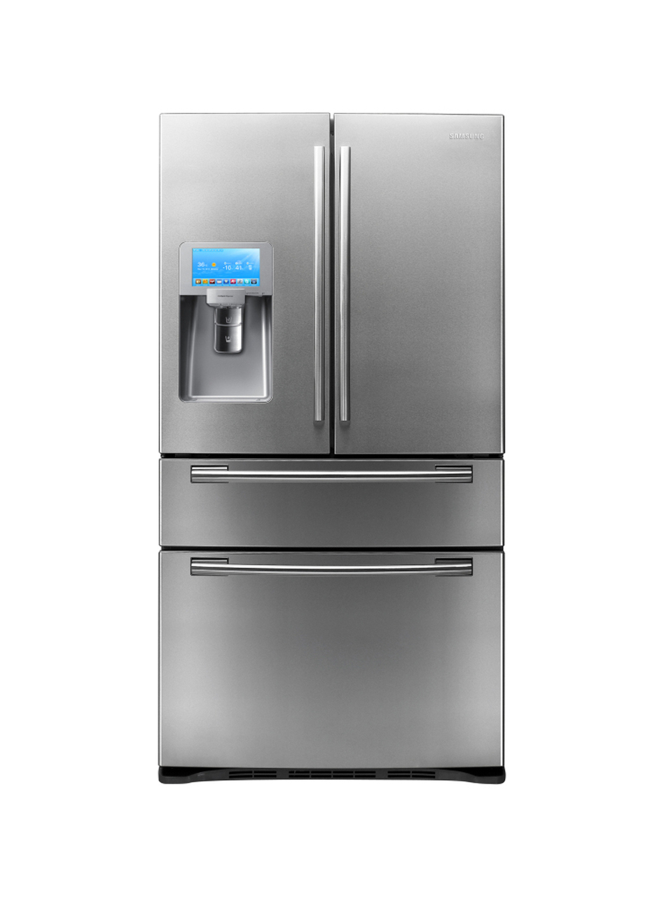 Samsung's fridge with an LCD screen has 28 cubic feet of space inside.