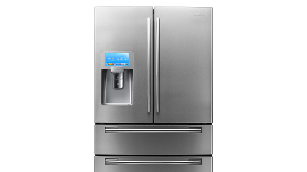 Samsung's fridge with an LCD screen has 28 cubic feet of space inside. (Courtesy of Samsung)