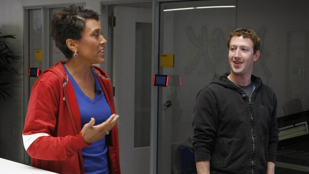 Robin Roberts of Good Morning America talks with Facebook founder and CEO Mark Zuckerberg about Facebook's new tool that lets users share their organ donor status.